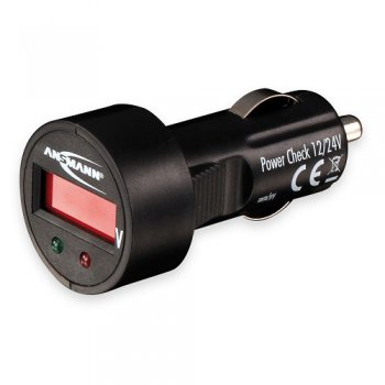 Ansmann Battery Tester Power Check 12/24V (tester; autozásuvka)
